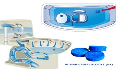 Khử Mùi Hôi Nhà Cầu Bằng Vi Sinh Urinal Blocks Từ Anh Quốc