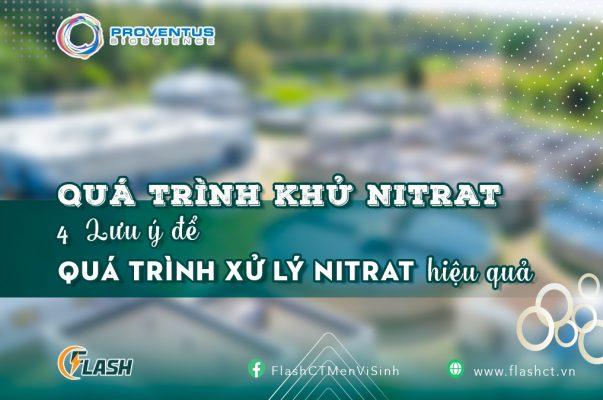 quá trình khử nitrat xử lý nitrat bằng vi sinh AquaCure Tabs