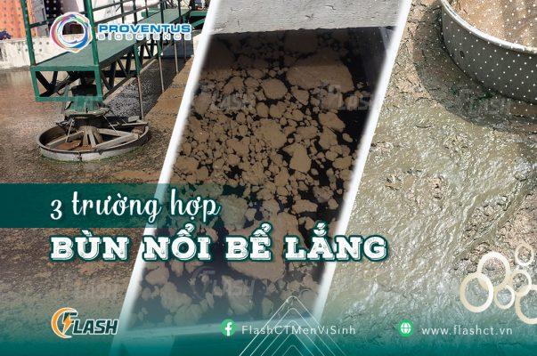 3 trường hợp bùn nổi bể lắng