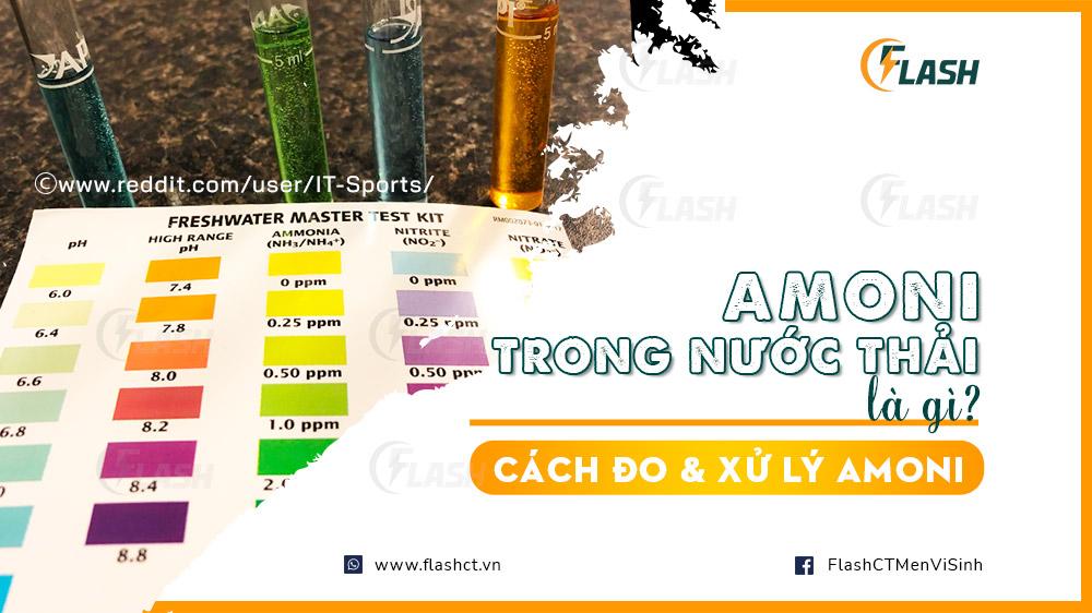amoni trong nước thải là gì? Cách đo và xử lý amoni nước thải